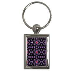 Digital Computer Graphic Seamless Wallpaper Key Chains (rectangle)