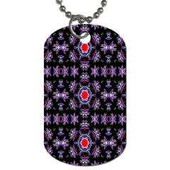 Digital Computer Graphic Seamless Wallpaper Dog Tag (One Side)