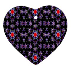 Digital Computer Graphic Seamless Wallpaper Heart Ornament (Two Sides)