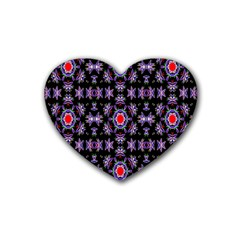 Digital Computer Graphic Seamless Wallpaper Heart Coaster (4 pack)