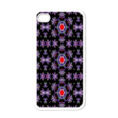 Digital Computer Graphic Seamless Wallpaper Apple Iphone 4 Case (white)