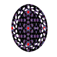 Digital Computer Graphic Seamless Wallpaper Oval Filigree Ornament (Two Sides)