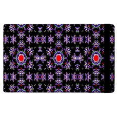 Digital Computer Graphic Seamless Wallpaper Apple iPad 3/4 Flip Case