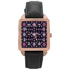 Digital Computer Graphic Seamless Wallpaper Rose Gold Leather Watch