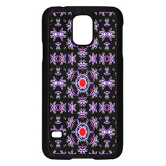 Digital Computer Graphic Seamless Wallpaper Samsung Galaxy S5 Case (Black)