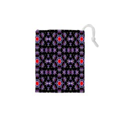Digital Computer Graphic Seamless Wallpaper Drawstring Pouches (XS)