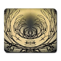 Atmospheric Black Branches Abstract Large Mousepads