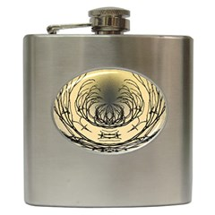 Atmospheric Black Branches Abstract Hip Flask (6 Oz)