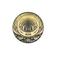 Atmospheric Black Branches Abstract Hat Clip Ball Marker