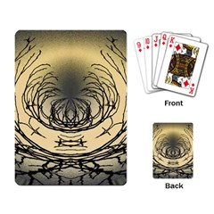 Atmospheric Black Branches Abstract Playing Card