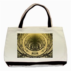 Atmospheric Black Branches Abstract Basic Tote Bag