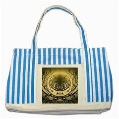 Atmospheric Black Branches Abstract Striped Blue Tote Bag