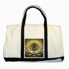 Atmospheric Black Branches Abstract Two Tone Tote Bag