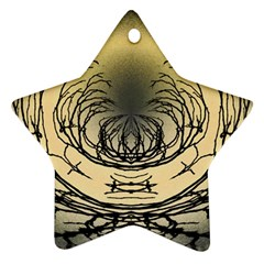 Atmospheric Black Branches Abstract Star Ornament (Two Sides)