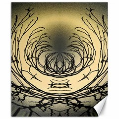 Atmospheric Black Branches Abstract Canvas 8  X 10