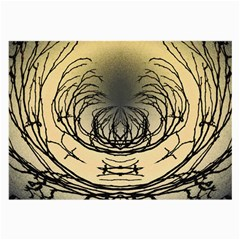 Atmospheric Black Branches Abstract Large Glasses Cloth (2-Side)