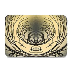 Atmospheric Black Branches Abstract Plate Mats