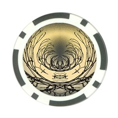 Atmospheric Black Branches Abstract Poker Chip Card Guard