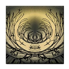 Atmospheric Black Branches Abstract Face Towel