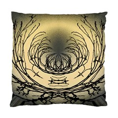 Atmospheric Black Branches Abstract Standard Cushion Case (One Side)