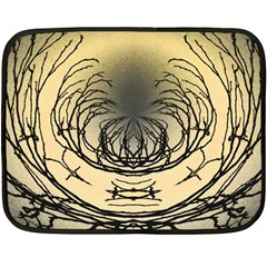 Atmospheric Black Branches Abstract Double Sided Fleece Blanket (Mini)