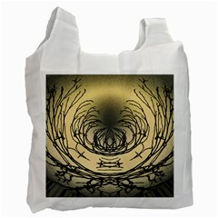 Atmospheric Black Branches Abstract Recycle Bag (Two Side)