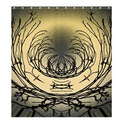 Atmospheric Black Branches Abstract Shower Curtain 66  x 72  (Large)