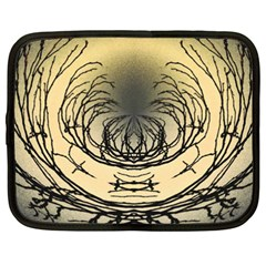 Atmospheric Black Branches Abstract Netbook Case (XXL)