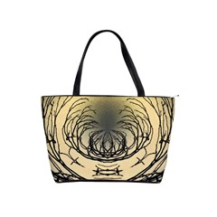 Atmospheric Black Branches Abstract Shoulder Handbags