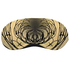 Atmospheric Black Branches Abstract Sleeping Masks