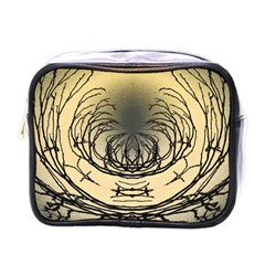 Atmospheric Black Branches Abstract Mini Toiletries Bags