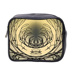 Atmospheric Black Branches Abstract Mini Toiletries Bag 2-Side