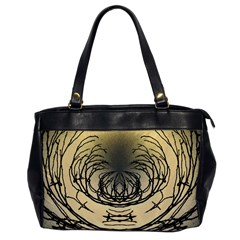 Atmospheric Black Branches Abstract Office Handbags