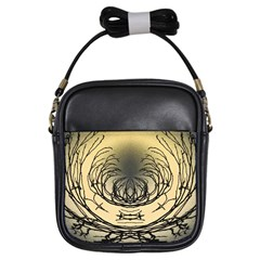 Atmospheric Black Branches Abstract Girls Sling Bags