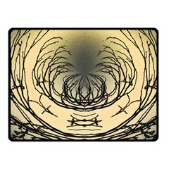 Atmospheric Black Branches Abstract Fleece Blanket (small)