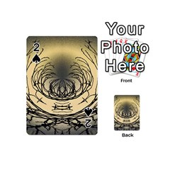 Atmospheric Black Branches Abstract Playing Cards 54 (mini)