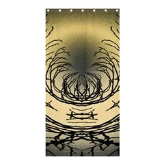 Atmospheric Black Branches Abstract Shower Curtain 36  X 72  (stall)