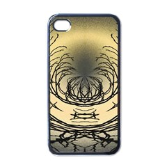 Atmospheric Black Branches Abstract Apple iPhone 4 Case (Black)