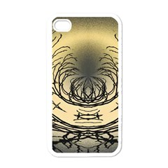 Atmospheric Black Branches Abstract Apple iPhone 4 Case (White)