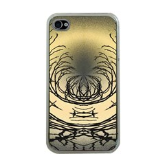 Atmospheric Black Branches Abstract Apple Iphone 4 Case (clear)