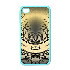 Atmospheric Black Branches Abstract Apple Iphone 4 Case (color)