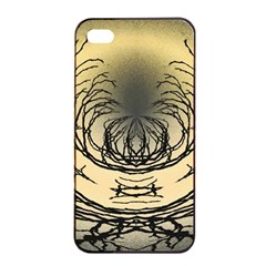 Atmospheric Black Branches Abstract Apple iPhone 4/4s Seamless Case (Black)