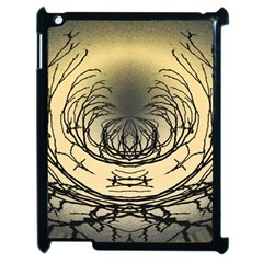 Atmospheric Black Branches Abstract Apple iPad 2 Case (Black)