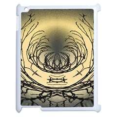 Atmospheric Black Branches Abstract Apple iPad 2 Case (White)