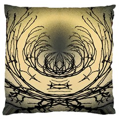 Atmospheric Black Branches Abstract Large Cushion Case (One Side)