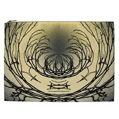 Atmospheric Black Branches Abstract Cosmetic Bag (xxl)