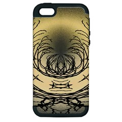 Atmospheric Black Branches Abstract Apple iPhone 5 Hardshell Case (PC+Silicone)