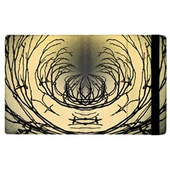 Atmospheric Black Branches Abstract Apple Ipad 2 Flip Case
