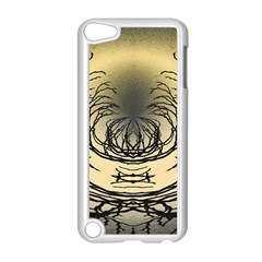 Atmospheric Black Branches Abstract Apple iPod Touch 5 Case (White)