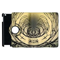 Atmospheric Black Branches Abstract Apple Ipad 3/4 Flip 360 Case